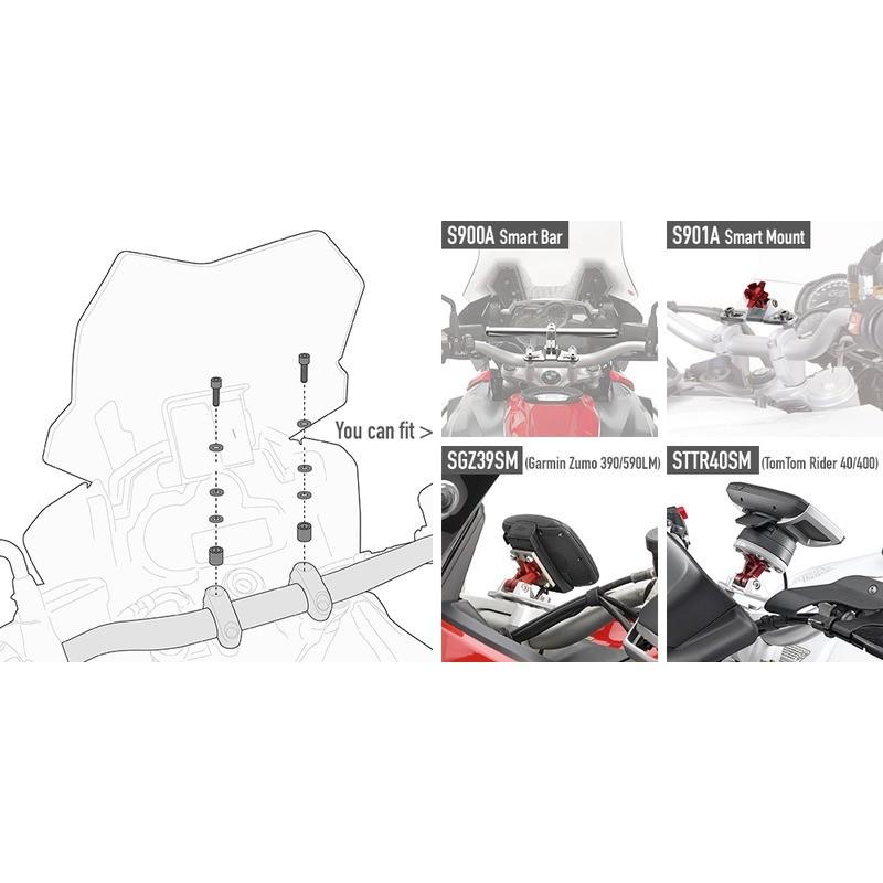 Kit de montage pour support GPS et Smartphone